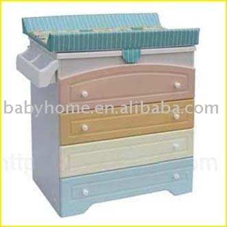 Wooden Baby Bath Station Changing Table