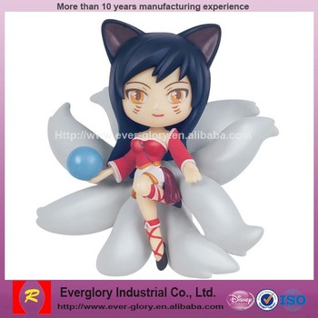 OEM lol figure,cute ahri Anime Figure,custom made plastic figure