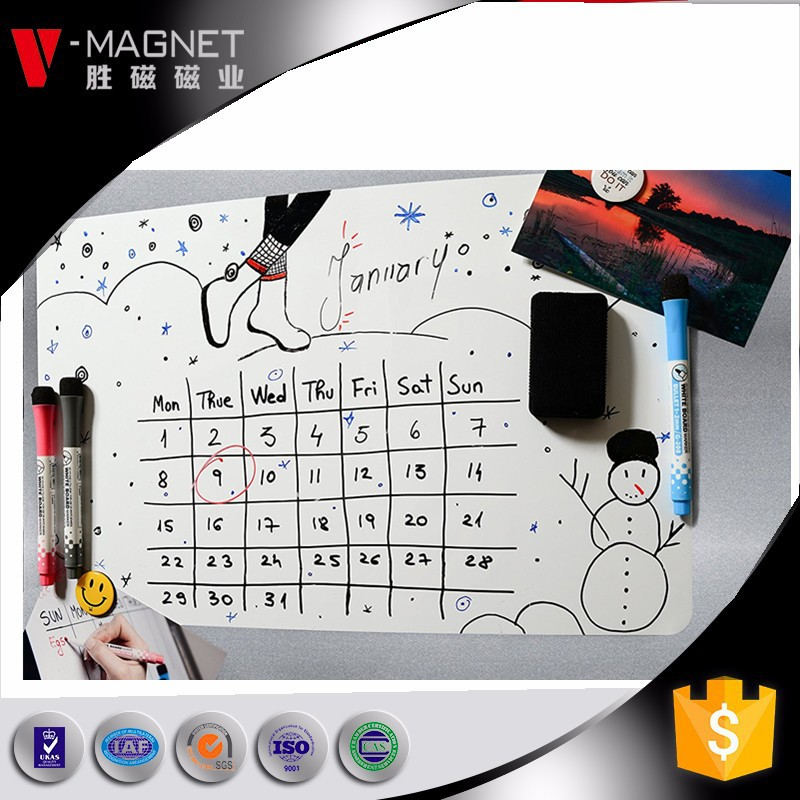 magnetic write erase board with pen