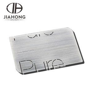 Custom blank metal printing business card