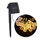 30 Crystal Balls Waterproof LED Outdoor Solar String Lights For Holiday Christmas Party Decoration