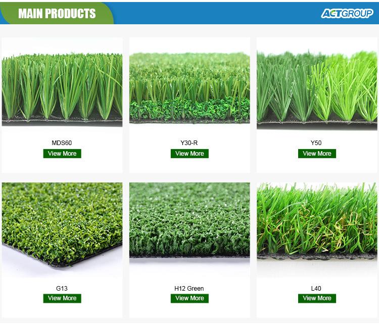 40 มม.กวางโจวผู้ผลิตสวนหญ้าหญ้าประดิษฐ์สำหรับตกแต่งกลางแจ้ง