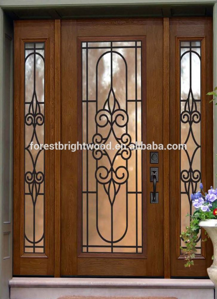 villa puerta de entrada de inserciones de cristal villa