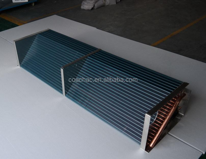 Air Condenser Coil : Tube fin air conditioner condenser evaporator coil heat