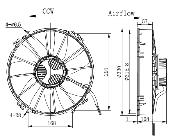 China 300mm Brushless Fan China 300mm Brushless Fan Manufacturers