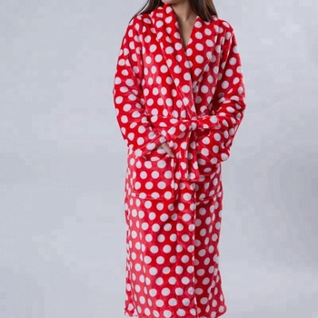 100 Polyester Women Flannel Candlewick Dressing Gown - Buy ... 214004ed4