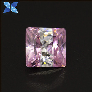 Customized different cutting mixed color square shape zircon stone for jewelry cz