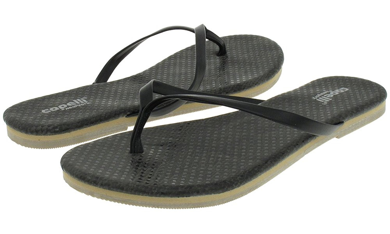Capelli New York Faux leather thong with textured python Ladies Flip Flop
