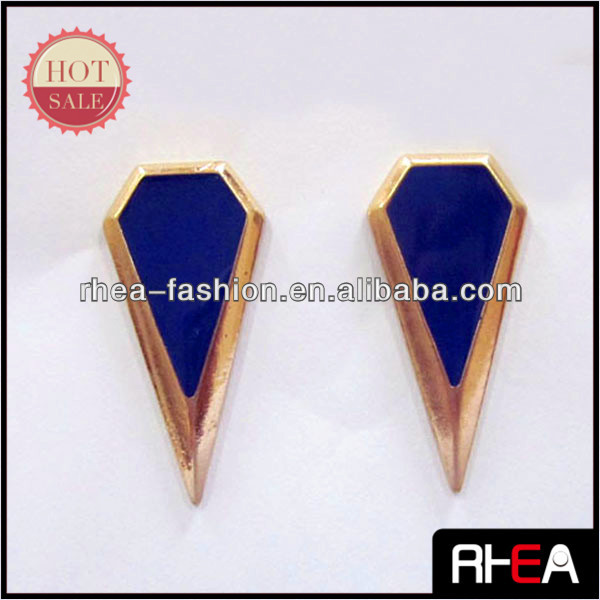 2014 Blue Enamel Craft Fashion gold alloy earring