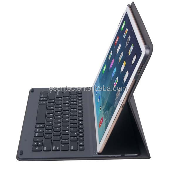 2016 Latest selling product bluetooth 3.0 wireless mini keyboard and PU case for ipad pro G1505
