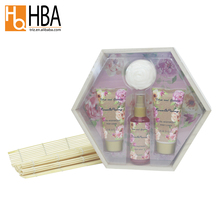 4 pcs rosa sabão forma de <span class=keywords><strong>caixa</strong></span> de madeira embalada body works bath spa gift set