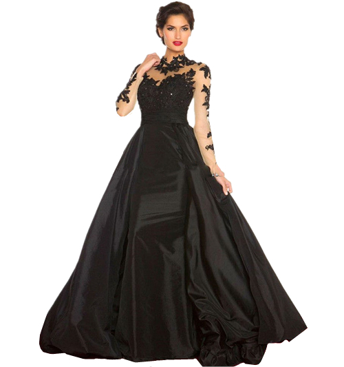 0a179a2df64 Get Quotations · 2014 Red Lace Women Formal Black Ball Gown Elegant Evening  Dress 2015 Long Sleeve Black Vestido