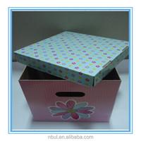 2014 popular fancy Large Capacity decorative cardboard storage box