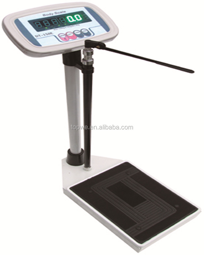 Digital Hospital Weighing <strong>Scale</strong> With Height Measuring Rod