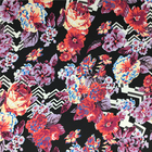 Wholesale Chiffon Polyester Fringe Floral Digital Printing Fabric