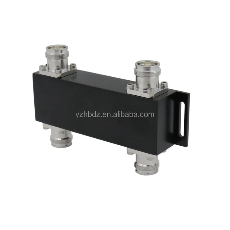 Hongbo 4.3-10 หญิง RF Hybrid Combiner 3dB 698-2700 MHz 2 in 2 out Hybrid Coupler combiner
