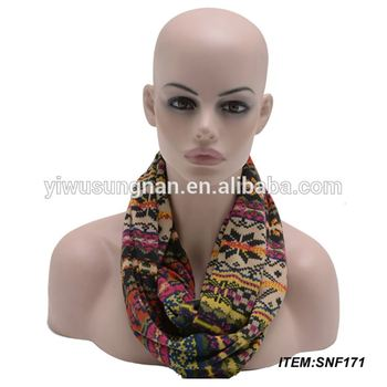 latest new 2015 winter fashion Christmas infinity scarf