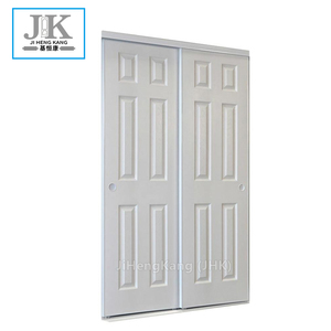 JHK Interior Sliding Louvered Closet Doors Sliding Shutter Blinds