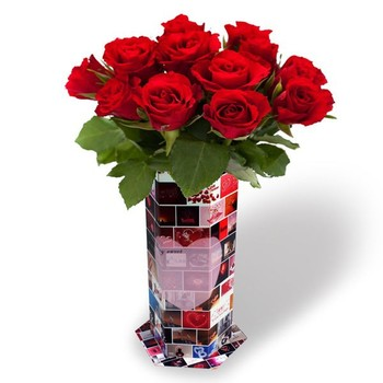 flower vases personalized with Modern Flower Vase Home Decoration Cardboard 60143945439 on Budget Friendly Rustic Real Wedding Ideas further Carnation Flower Basket as well Patiquefloral likewise Message In A Bottle Invitation as well Ceremonie Mariage Deco Eglise.