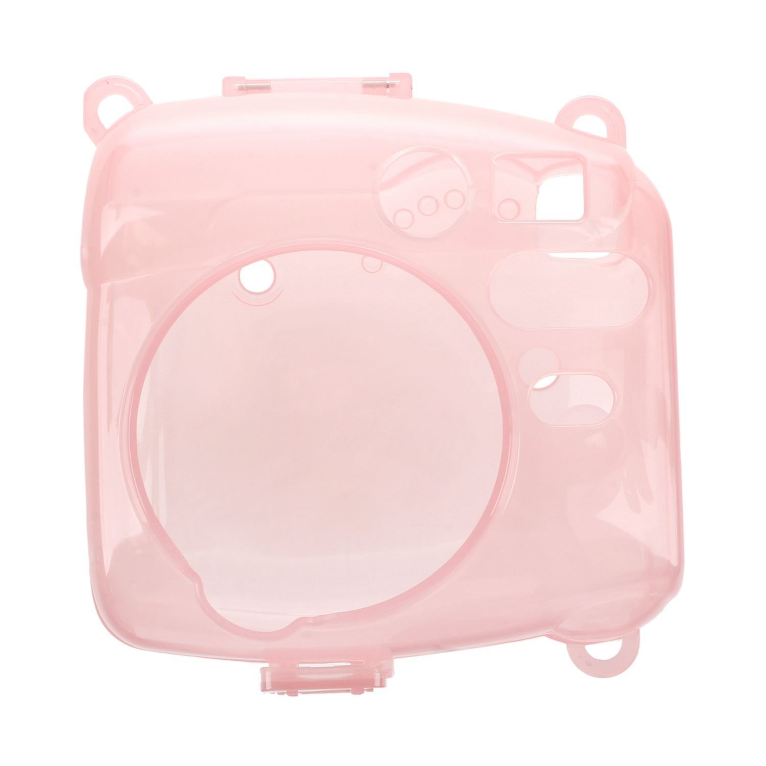 SODIAL(R) For fujifilm instax mini 8 case cover Pu the leader camera to protect Case Cover Hard Case Camera Shoulder bag Insert Case(Pink)