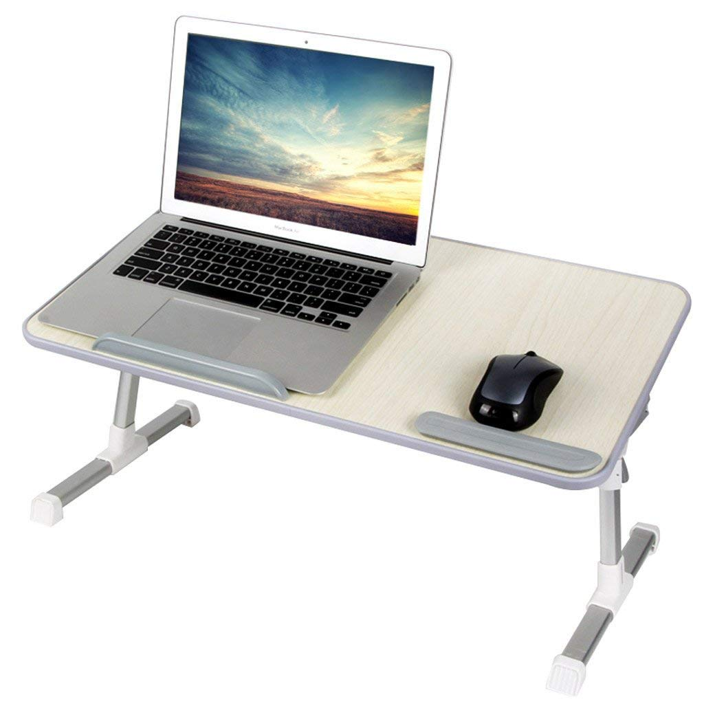 GAOYANG Laptop Bed Tray Table, Adjustable Laptop Bed Stand, Portable Standing Table with Foldable Legs, Foldable Lap Tablet Table for Sofa Couch Floor (Color : Gray, Size : Have a Fan)