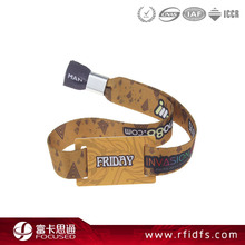 Factory cost Fabric woven RFID wristband in Access Control Card
