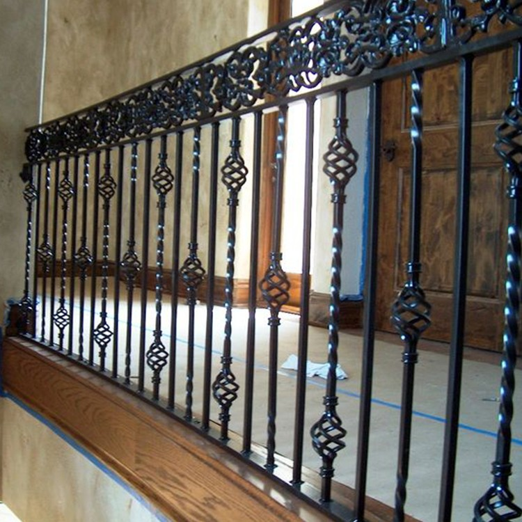 Saftey Use 1 Meter Height Wrought Iron Terrace Railing