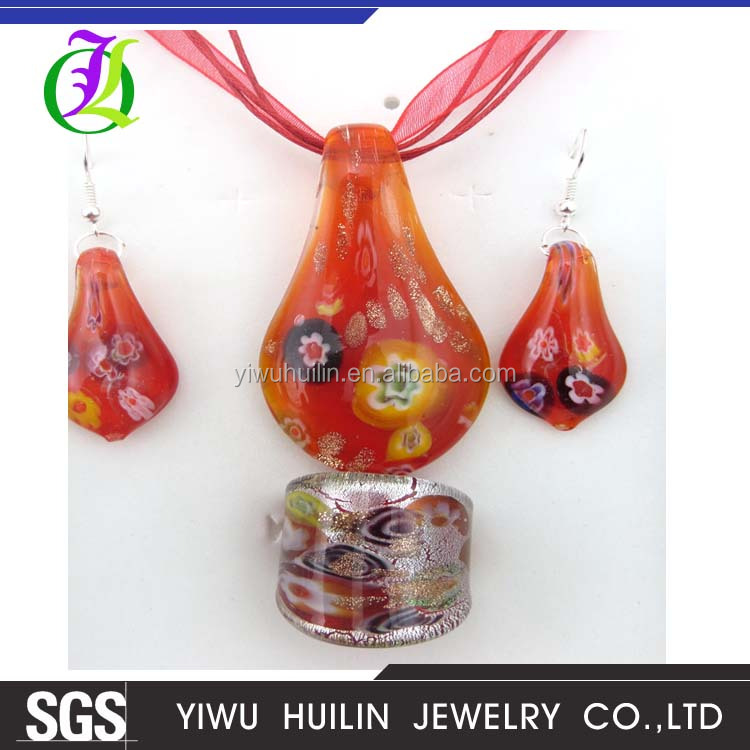 ST023Yiwu HuilinJewelry new design fashionable murano style womens jewellery accessories