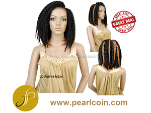 New Style Three-Way Parting Lace Front Braid Wig Box Braid in Highlights
