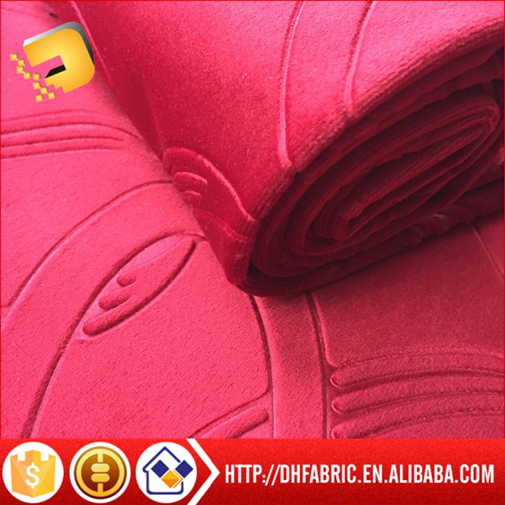 100% Polyester Hot Sale 3D effect design American style Embossed garment fabric