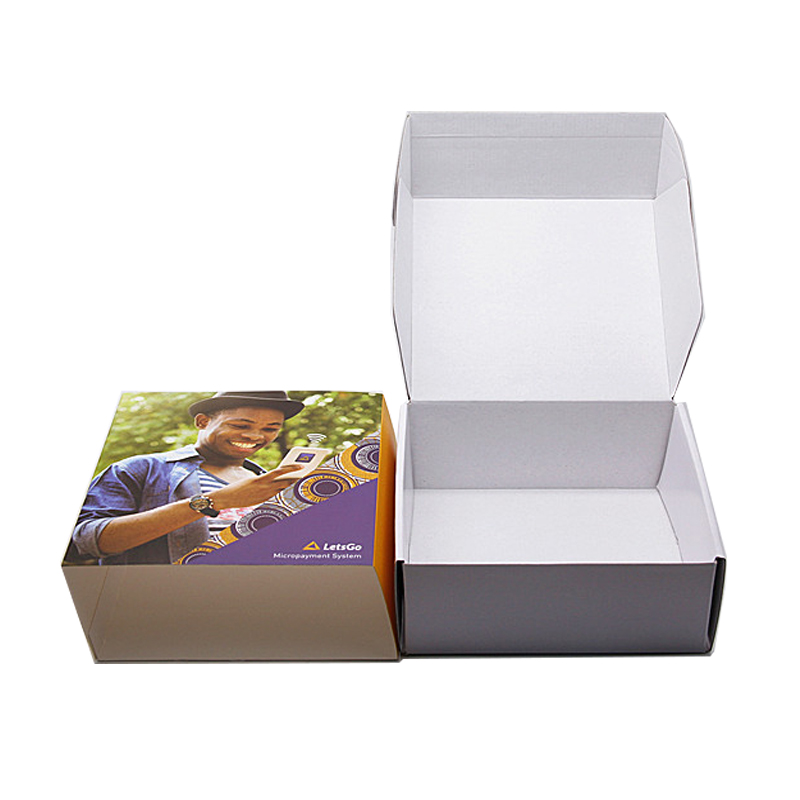Custom Design Handle Mobile POS Paper Insert Packaging Corrugated Boxes