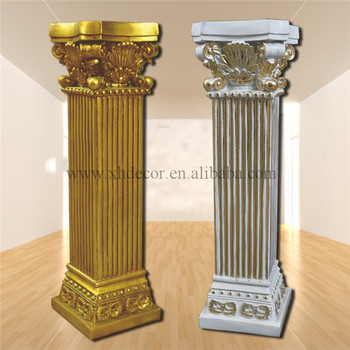 Frp Decoration Roman Column Pillar PU Home Decor Still For Sale