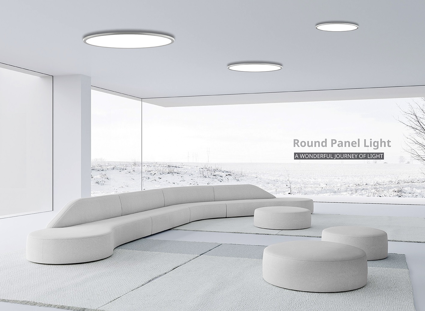 Inlity led panel light round with low price surface round panel light for the office