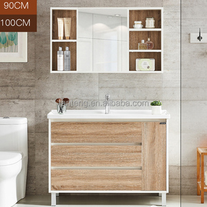 90cm Modern design wc melamine cabinet modern bathroom vanity sets