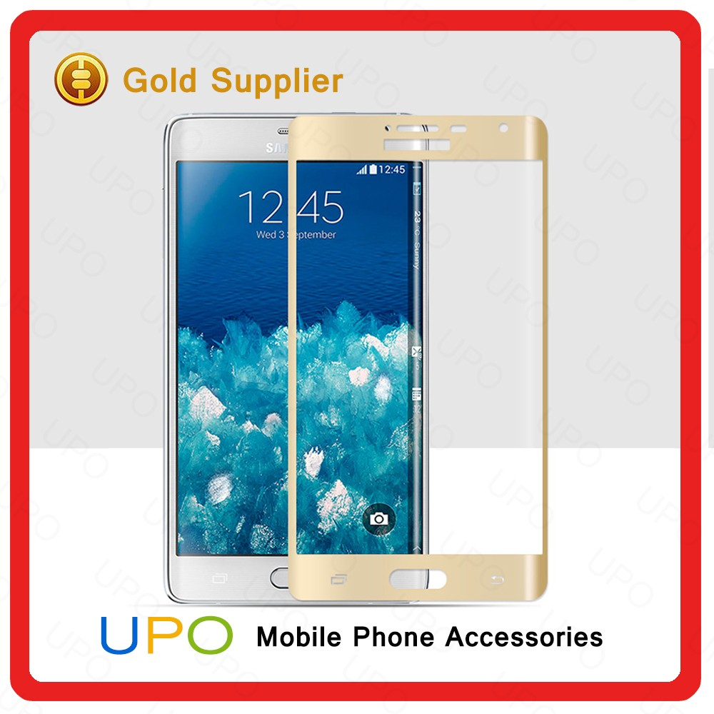 [UPO] 0.2mm ultra slim 3D curved full screen tempered glass film protector for samsung galaxy Note Edge