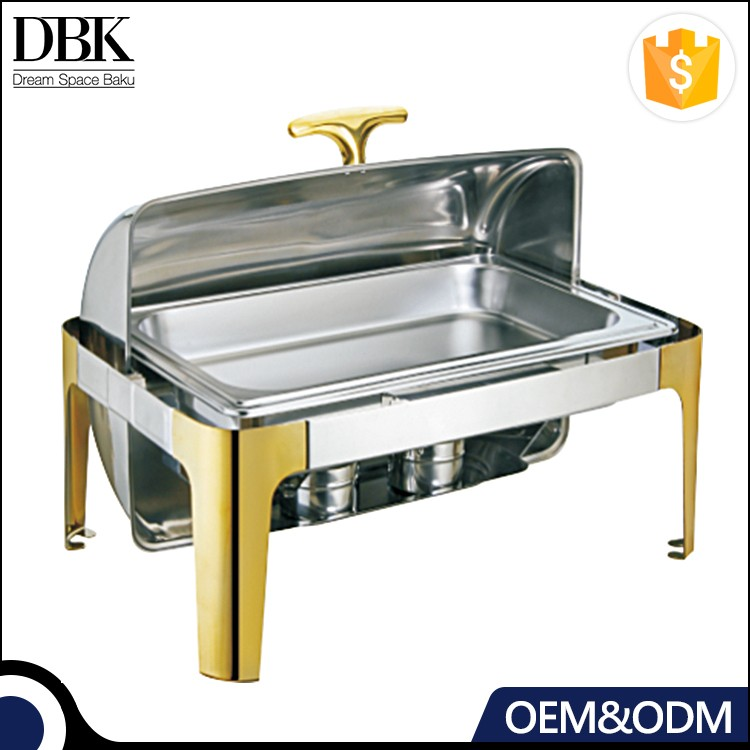 DBK ODM OEM hotel restaurant buffet reliable gold food warmer chafing dish