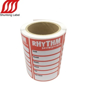 Blank writable pvc matte laminated stickers labels printing roll