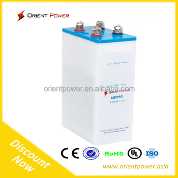 800Ah solar nickel ion battery standard 20 years Life 11000 cycle Nickel Iron Battery for sale