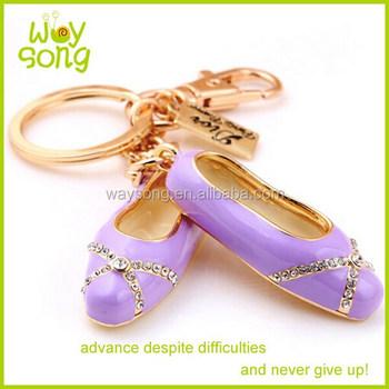Women s Ballet Shoes Purse Key Chain Colorful Ballet Shoe Keychain ... 69c96699fb