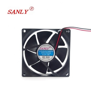 12V voltage dc brushless computer case axial airflow cooling fan