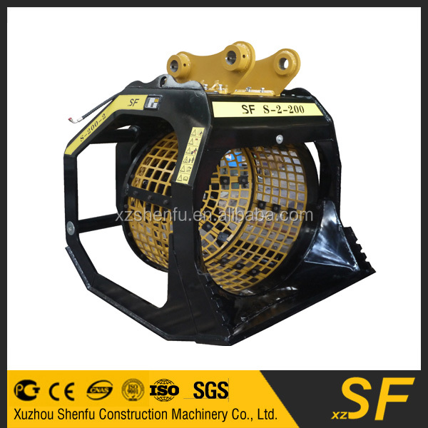 SF special types of excavator equipment parts soil screening bucket for sale
