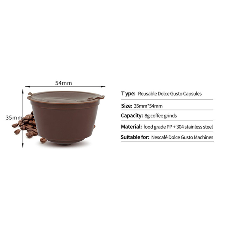 Wholesale price refillable coffee filter capsule
