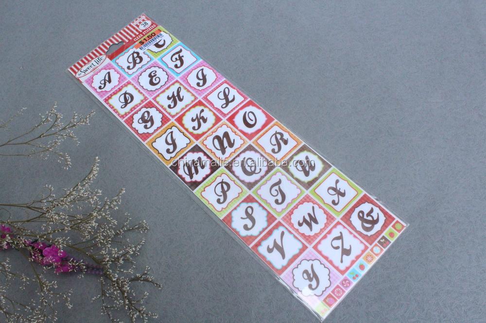 Wholesale Adhesive Vinyl Alphabet StickersPlastic