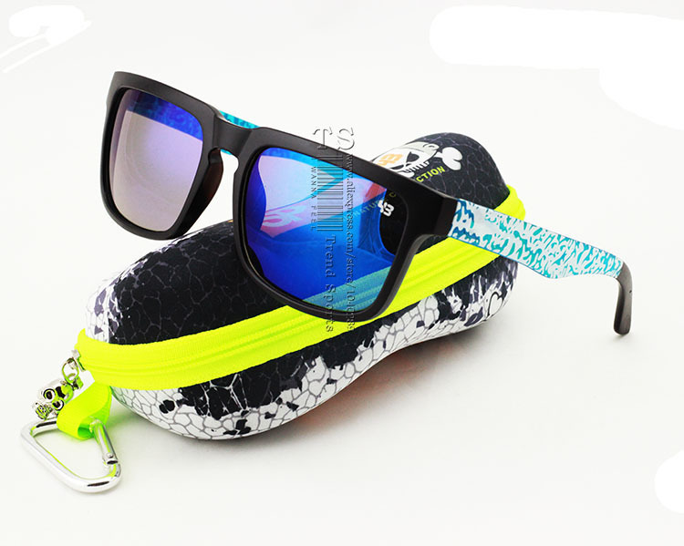 76394dca8dab6 Get Quotations · 2015 The Helm 43 Fashion Trend Ken Block Sunglasses With  Hard Box Case Cycling Sports Sun