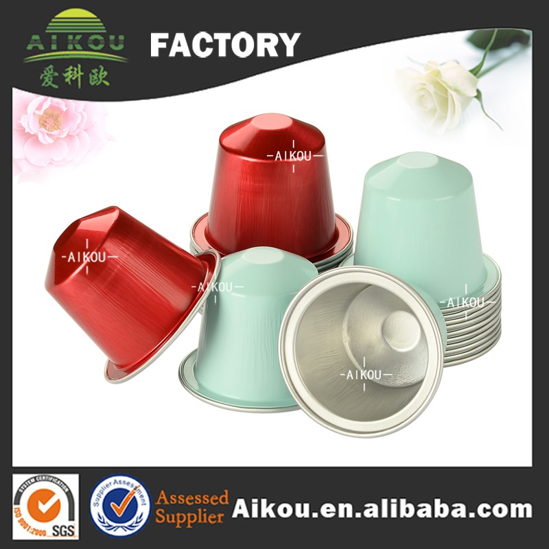 New product disposable aluminum foil coffee capsule with sealing lid