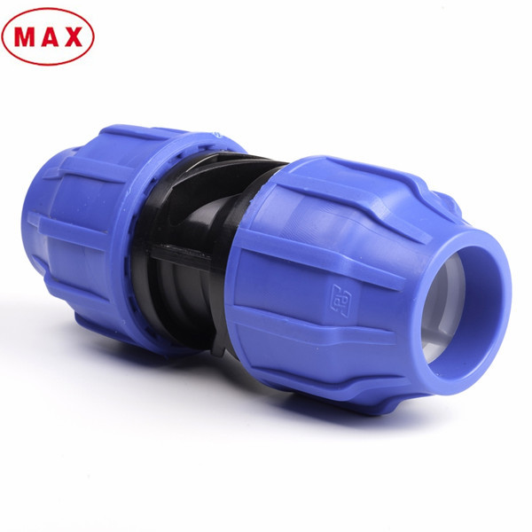 Compression quick release coupler for hdpe pipe joint