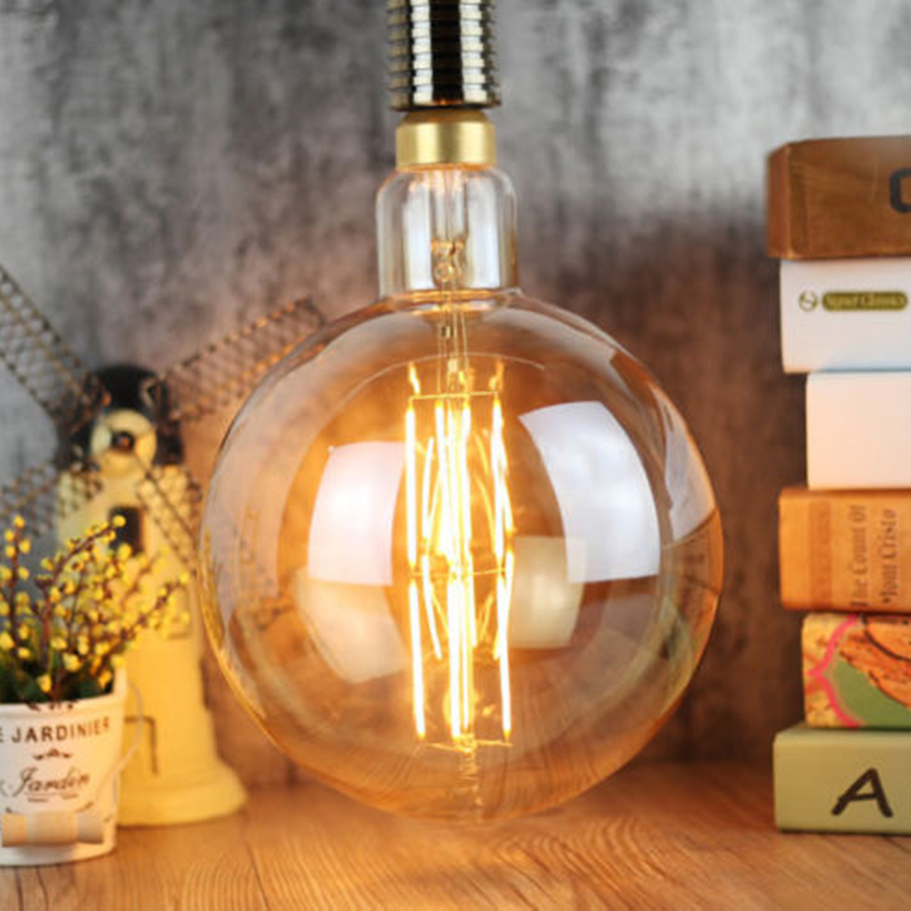 Large Lamp Spectrum Style 8W E27 Golden LED Filament big balloon G200 Edison light bulb