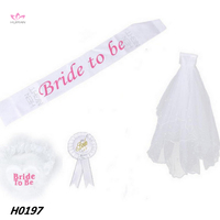 Bride to be Combo Hen Party Sash Team Bride Party Decoration Kits Wedding Party Set