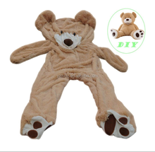 Campione gratuito gaint big size <span class=keywords><strong>unstuffed</strong></span> pelle dell'orso <span class=keywords><strong>unstuffed</strong></span> pelli di animali di <span class=keywords><strong>peluche</strong></span> giocattoli orso pelle animali molli