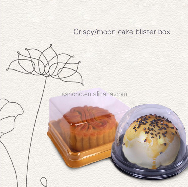 Mini Cupcake Clear Plastic Retail Plastic cake Packaging Boxes